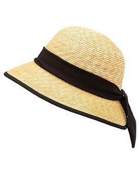 Cloche Milana Straw With Back Bow