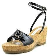 Stella McCartney Gemini C Open Toe Leather Wedge Sandal.
