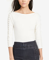 Lauren Ralph Lauren Petite Lace-Up Shirt