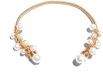 I'mmany London All Wrapped Up Freshwater Pearl Open Bangle/Bracelet