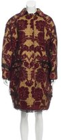 Dolce & Gabbana Patterned Knee-Length Coat w/ Tags