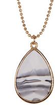 Stephan & Co Semi-Precious Teardrop Pendant Necklace
