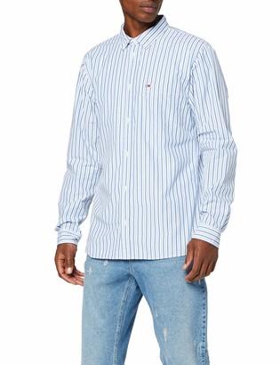 Tommy Jeans Men's TJM Classics Poplin Stripe Shirt Casual