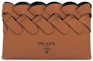 Prada Woven Clutch Bag