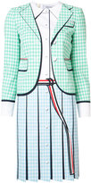 Thom Browne checked dress - women - Silk/Wool - 42