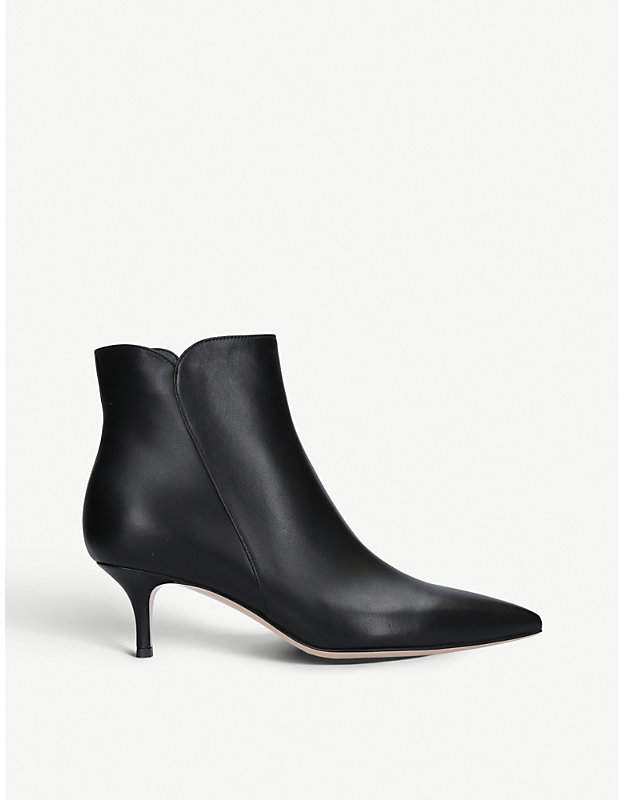 Gianvito Rossi Levy 55 leather ankle boots