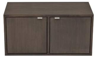 Ebern Designs 2 Door Storage Cabinet Ebern Designs Wood Veneer: Painted Eco-MDF, Finish: Orange