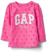 Gap Embellished logo shirred top