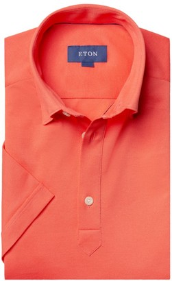 Eton Short-Sleeve Pique Button-Front Shirt