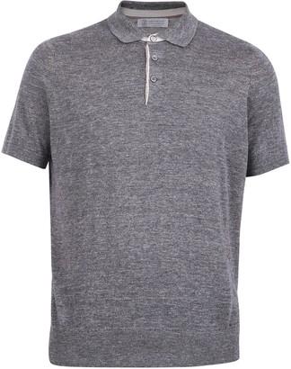 Brunello Cucinelli Ribbed Trim Polo Shirt