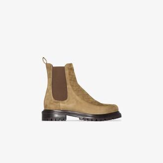 Aquazzura green Drive suede Chelsea boots