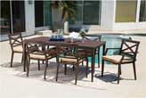 Abbyson Living Cayman Aluminum Outdoor Patio 7Pc Dining Set