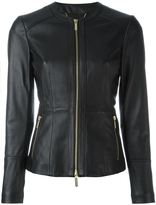 MICHAEL Michael Kors fitted jacket - women - Calf Leather/Lamb Skin/Polyester/Spandex/Elastane - M