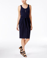 Bar III Knot-Front Sheath Dress, Only at Macy's