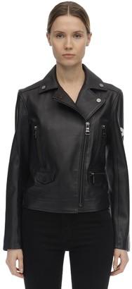 Karl Lagerfeld Paris Handmade Painted Leather Biker Jacket
