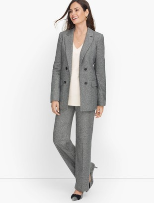 Talbots Luxe Donegal Open Front Jacket