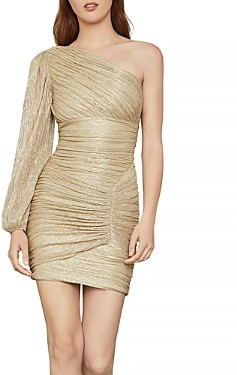 BCBGMAXAZRIA Ruched One Shoulder Dress