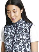 Joe Fresh Women's Print Puffer Vest, Deep Blue (Size XL)