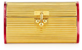 Edie Parker Dani Metal Backlit Evening Clutch Bag, Gold/Red