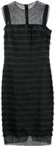 Balenciaga Pre Owned 2000's sheer panels fringed dress