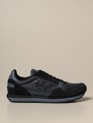 Emporio Armani Sneakers Sneakers In Suede And Technical Fabric