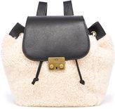 UGG Women's Vivienne Sheepskin Backpack Black and Natural