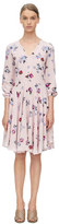 Rebecca Taylor Long Sleeve Bellflower Print Dress