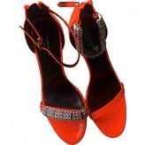 Calvin Klein Orange Patent leather Sandals