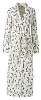 Lands' End Women's Petite Supima Midcalf Robe-Ivory Floral