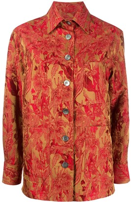 Alberto Biani Floral Embroidered Shirt