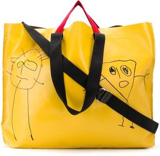 Plan C Sketch Print Shopper Bag