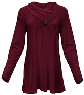 Azalea Burgundy Button-Accent Tunic - Plus Too