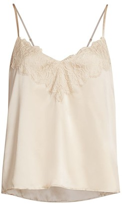 CAMI NYC The Katya Lace-Trim Silk Camisole Top