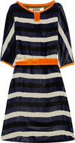 Easton Pearson Striped velvet dress