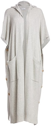 Rosetta Getty Hooded Cape Cashmere Duster Cardigan