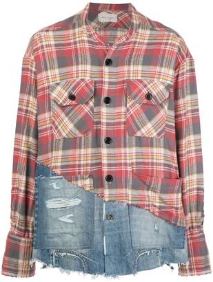 Greg Lauren Patchwork Long Sleeve Shirt