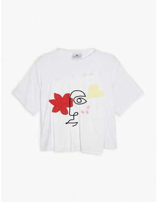 Raspberry Plum Shani ruffled bamboo T-shirt 3-14 years