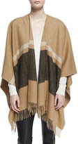 Rag & Bone Varsity Stripe Wool Felt Wrap, Camel