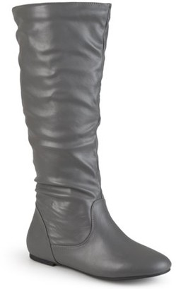 Brinley Co. Women's Wide-Calf Slouch Riding Mid-Calf Boots