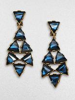 Oscar de la Renta Triangle Chandelier Clip-On Earrings