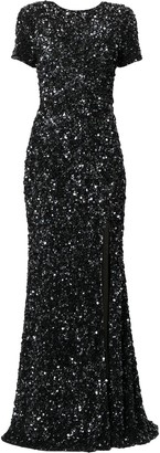 Rachel Gilbert Nixie sequin-embellished gown