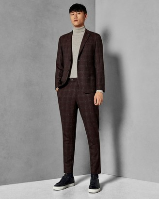 Ted Baker Checked Boucle Wool Suit Trousers