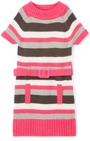 Pink Angel Fuchsia Stripe Belted Mock Neck Dress - Infant Toddler & Girls
