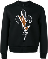 Neil Barrett embroidered sweatshirt - men - Polyurethane/Viscose - XS