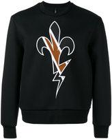 Neil Barrett embroidered sweatshirt