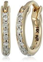 Adina Pave Diamond Huggie 14k Yellow Gold Hoop Earrings (1/10cttw, H-I Color, I2-I3 Clarity)