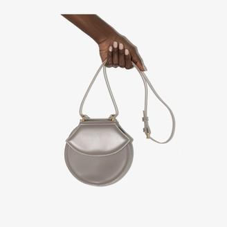 USISI SISTER grey Henry leather cross body bag