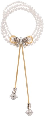 Miu Miu Pearl Bow Jewels necklace