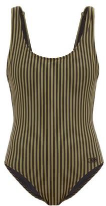 Solid & Striped Anne-marie Striped Scoop-neck Swimsuit - Womens - Green Stripe