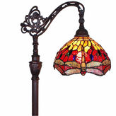 AMORA Amora Lighting AM079FL10 Tiffany Style Dragonfly Reading Floor Lamp 62 In